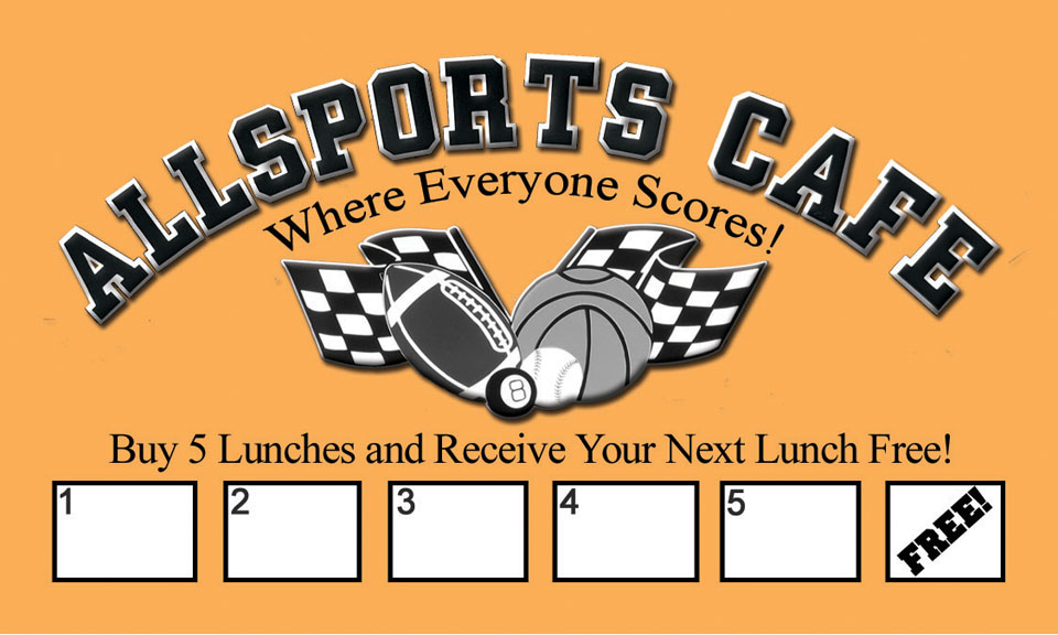 Lunch card allsports free lunch